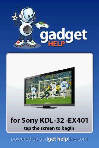 Sony KDL 32EX401 - Gadget Help