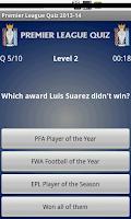 Screenshot of Premier League Quiz 2013-14