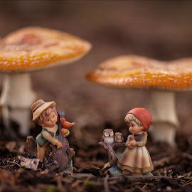 Munchkins & Mushrooms by Marco Dennis - Artistic Objects Other Objects ( fungi, figurines, little, munchkins, people, mushrooms )