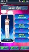 Screenshot of Body Spy Get Size by photo