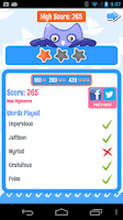 Screenshot of PowerVocab Word Game