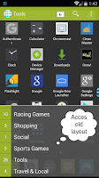 Screenshot of App Launcher+ (Auto Organizer)