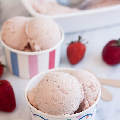 Roasted Strawberry Buttermilk Ice Cream