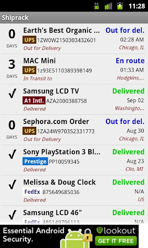 Shiprack Package Tracker
