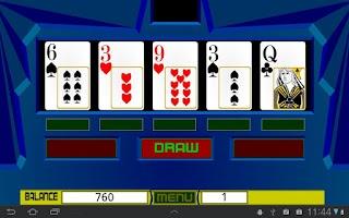 Screenshot of Dubai Poker Machine