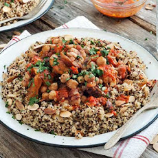 Gluten Free Chickpea Tagine with Quinoa and Harissa