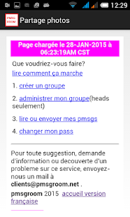 Partage photos - screenshot