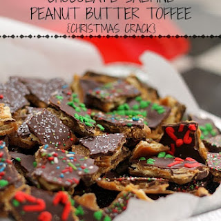 Chocolate Saltine Peanut Butter Toffee {Christmas Crack}
