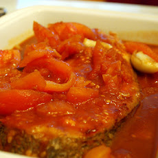 Fish Sauteed With Spicy Tomatoes and Olives