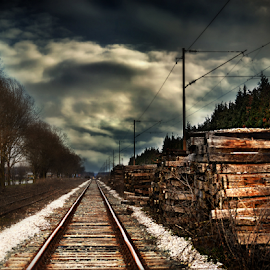 by Manuela Dedic - Transportation Railway Tracks