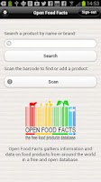 Screenshot of Open Food Facts