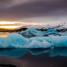 Jökulsárlón Reflections by Craig Fraser - Landscapes Waterscapes (  )