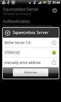 Screenshot of SqueezePlayer