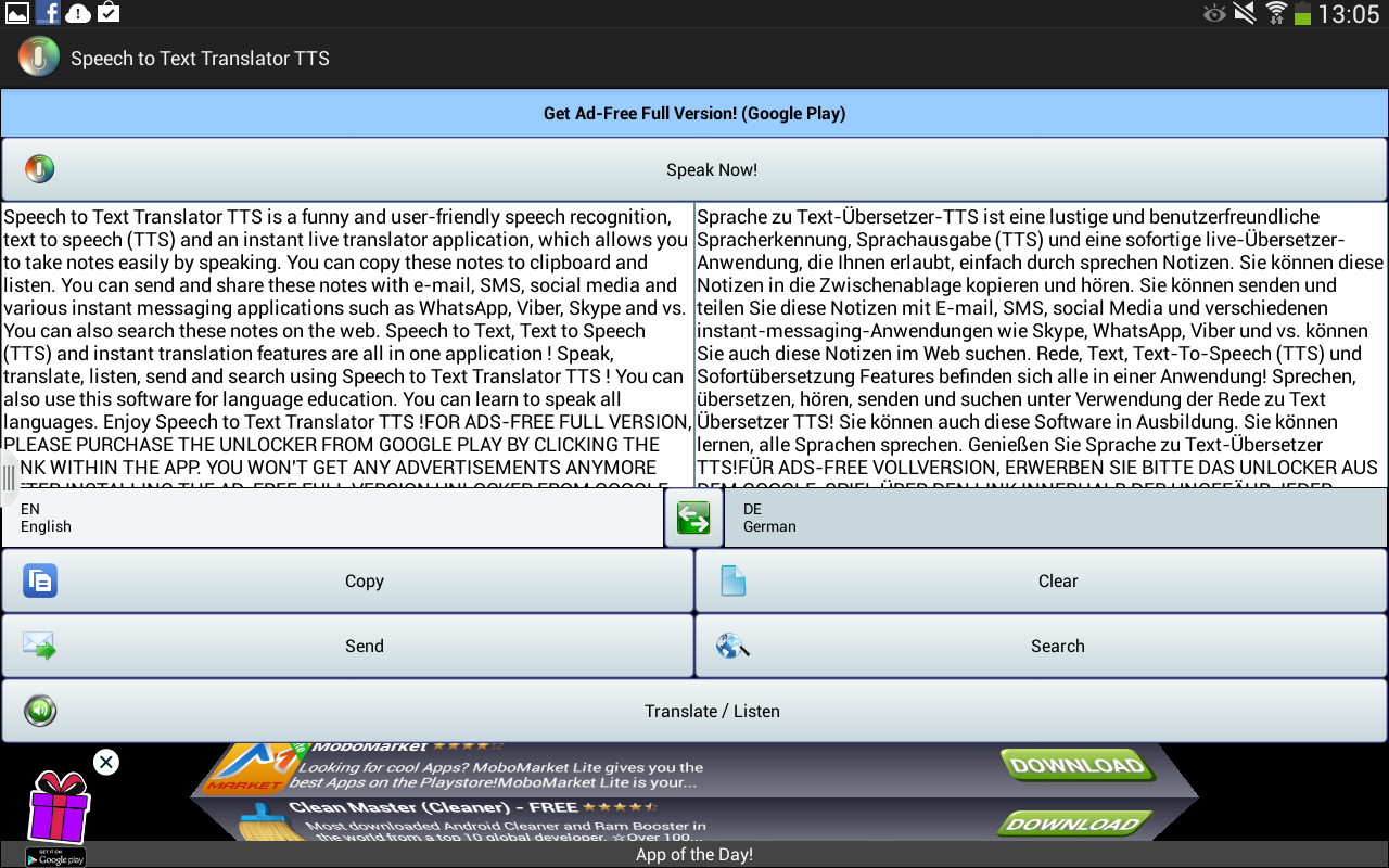 Speech to Text Translator TTS Screenshot 6