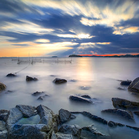 The Light is in Roll by Bertoni Siswanto - Landscapes Beaches ( japan, kira beach, sunset, bertoni siswanto, landscape )