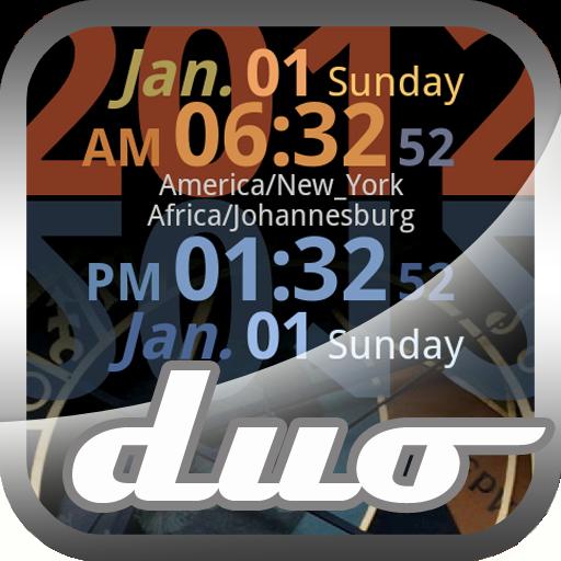 세계 시계 라이브 Duo 工具 LOGO-玩APPs