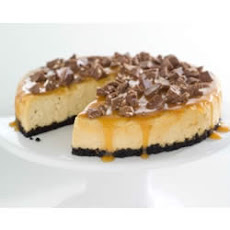 TOBLERONE-Topped Caramel Cheesecake