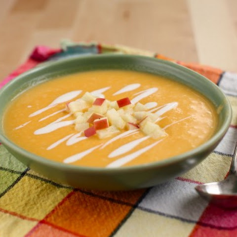 5-ingredient Butternut Squash & Apple Soup (sous vide)