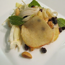 Shaved Apple and Fennel Salad with Currants, Mint and Marcona Almonds