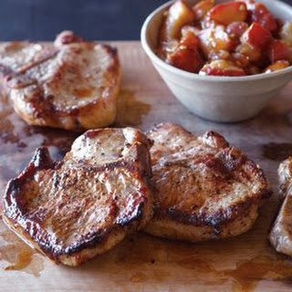 Maple-Brined Pork Chops with Pear Chutney
