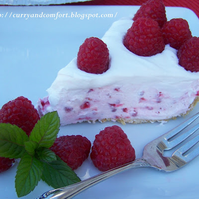 Raspberry and Lemon No-Bake Cheesecake Pie