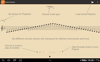 Screenshot of Scales Practice Pro