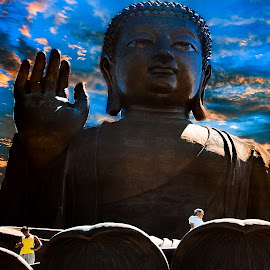 The Big Budha, Po Lin Monastery by Marcel Eringaard - Buildings & Architecture Places of Worship ( budha, hong kong, hongkong, sunset, asia, po lin monastery )