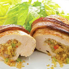 Bacon-Wrapped Jambalaya-Stuffed Chicken