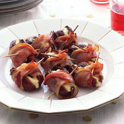 Bacon-Wrapped Chestnut-Stuffed Dates