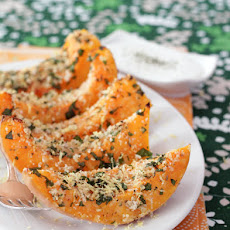 Parmesan Panko Crusted Squash with Sour Cream