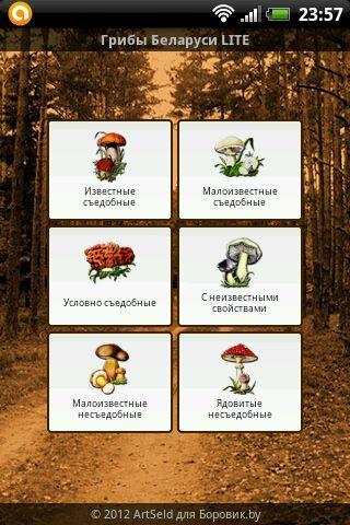 Грибы Беларуси LITE