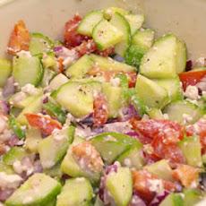 Greek Salad Tomatoes Cucumbers Feta Recipes | Yummly