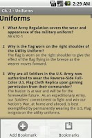 Screenshot of Army Study Board Lite