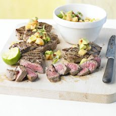 Barbecued Lamb With Punchy Melon Salsa
