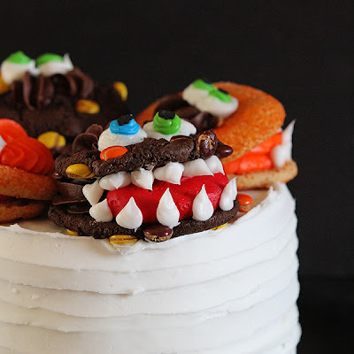 Monster Cake with Monster Cookies