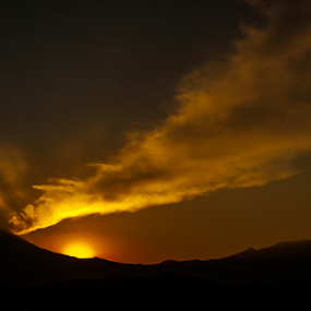 Volcano and sunset by Cristobal Garciaferro Rubio - Landscapes Mountains & Hills