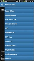 Screenshot of Nepali Radio