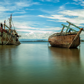 Wreckage's by Marc James - Transportation Boats