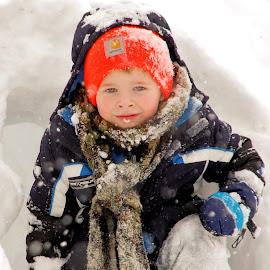 Love my tunnel by Brandy Baker - Babies & Children Children Candids ( playing, snow, kids, toddler, boy,  )