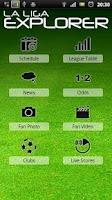 Screenshot of La Liga Explorer