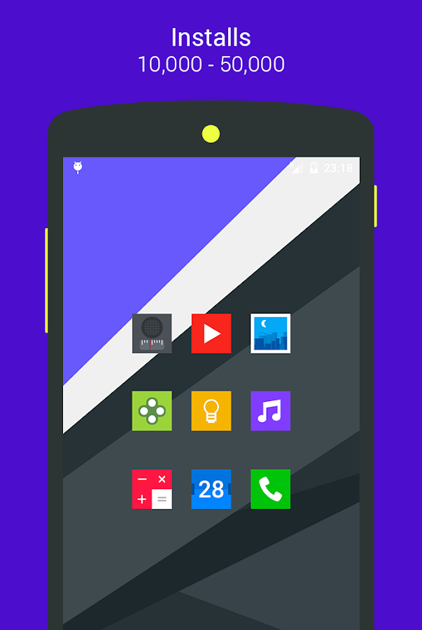 Goolors Square - icon pack Screenshot 0