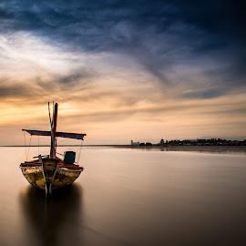 Perahu Nelayan by Ary Hastono - Transportation Boats ( #kenjeran #surabaya #boat #beach #indonesia #landscape #nature,  )