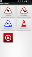 Screenshot of V-Traffic: traffic info