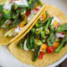 Padron Pepper and Goat Cheese Tacos