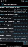 Screenshot of Root-Ed Shoutbox