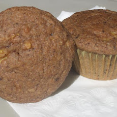 Chocolate Banana Peach Muffins