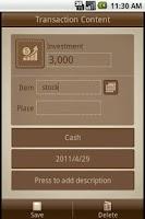 Screenshot of Money Notes Lite
