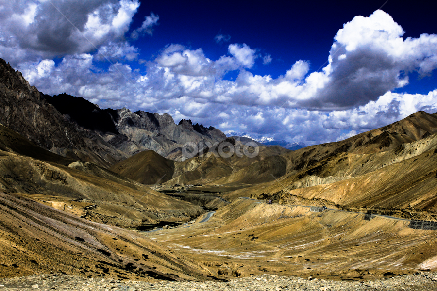Landscape by Debajit Bose - Landscapes Mountains & Hills ( hills, sky, mountain, blue sky, nature, green, cloud, india, debajit bose, landscape, curves )