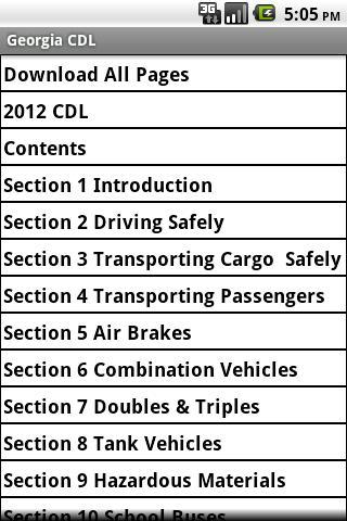 Georgia CDL Manual