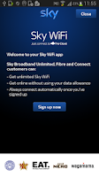 Screenshot of Sky WiFi